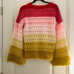 Tularosa Sweaters - Tularosa Size Sm multi color bell sleeve sweater